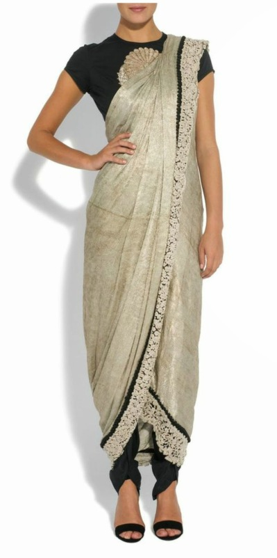 Sonam Kapoor in Half saree drape or Anamika khanna saree style drape.jpg